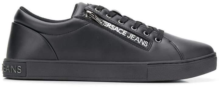 Versace side zipped logo sneakers