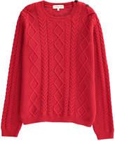 LES COYOTES DE PARIS Cable Knit Codie Pullover