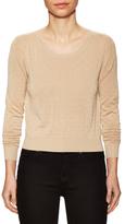 Carven Textured Dots Scoopneck Sweater