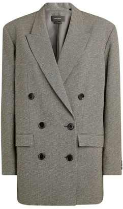Isabel Marant Oladim Double-Breasted Blazer Jacket