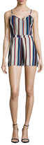 Lucca Couture Striped Fitted Romper