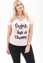 Forever 21 FOREVER 21+ Plus Size Fight Like A Champ Tee