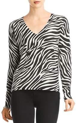 Bailey 44 Heidi Zebra-Stripe Front Sweater