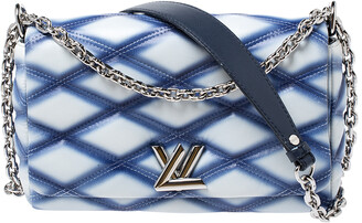 Louis Vuitton Blue/White Quilted Lambskin Leather GO-14 Malletage PM Bag