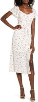 Rowa Row A Lace-Up Front Midi Dress
