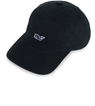 Vineyard Vines Whale Logo Leather Strap Baseball Hat