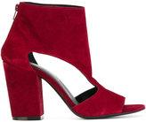 Fausto Zenga - open toe boots - women - Leather/Suede - 36