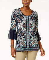 JM Collection Embellished Lantern-Sleeve Tunic, Created for Macy's