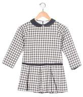 Florence Eiseman Girls' Gingham Corduroy-Trimmed Dress