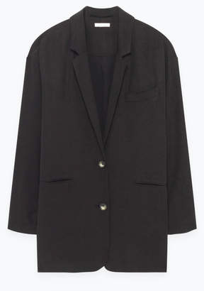 American Vintage Nalastate Blazer in Carbon - small