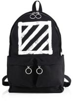 Off-White Diagonal Printed Backpack