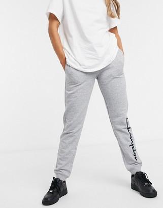 Champion large logo jogger in grey