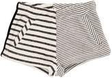 Milk On The Rocks Striped Cotton Sweat Shorts