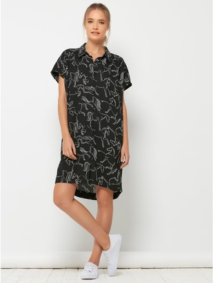 M&Co Sonder Studio horse print shirt dress