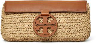 Tory Burch Miller Straw Clutch Bag