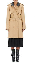 J.W.Anderson Women's Wool-Blend Embellished Trenchcoat-TAN