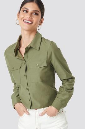 NA-KD Safari Shirt Green