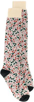 Marni floral motif socks