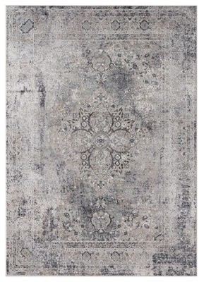 "Ophelia & Co. Arceneaux Gray Area Rug Rug Size: Rectangle 7'10"" x 10'6"""