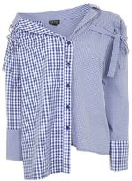 Topshop Gingham re-worked shirt