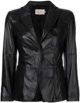 L'Autre Chose fitted biker jacket