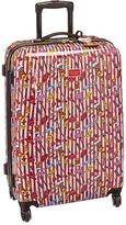 Betsey Johnson Candy Cane Large Roller Luggage Luggage
