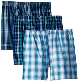 Jockey Classic Wovens Full Cut Boxer 3-Pack (White) Men's Underwear