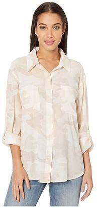Sanctuary Waverly Boyfriend Shirt (Sand Dune Camo) Women's Clothing