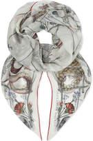 Alexander McQueen Devil trap silk scarf