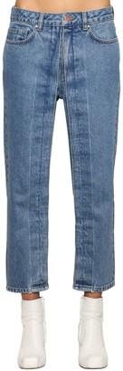 Aalto Fixed Pleats Cropped Denim Jeans