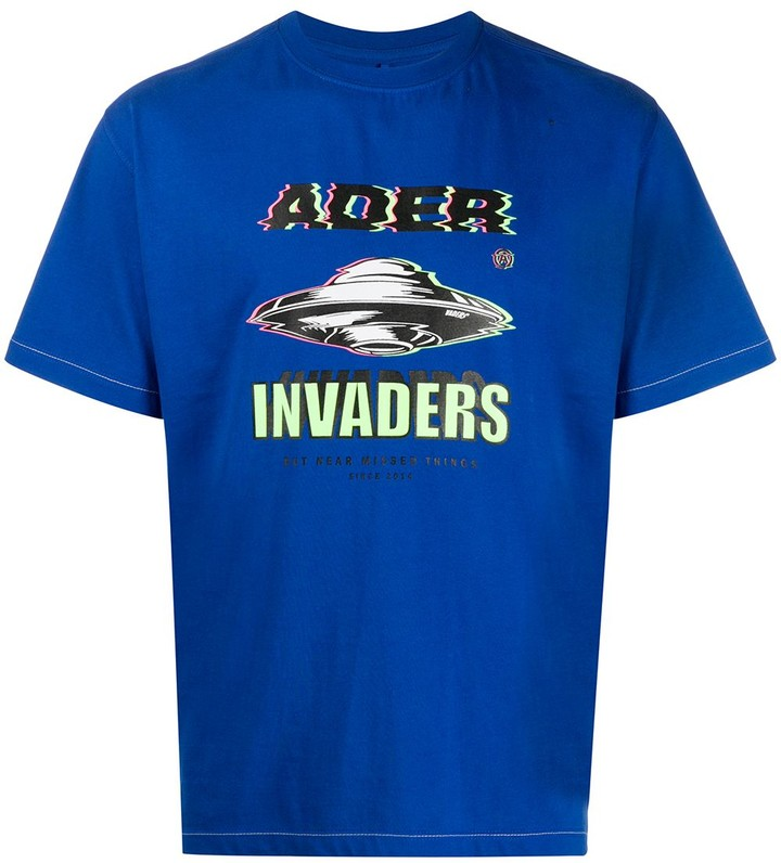 Ader Error Invaders-print T-shirt