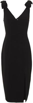 Zimmermann Bow-embellished Crepe Midi Dress