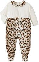 Roberto Cavalli Just Cavalli Leopard Print Footie (Baby) - White/Leopard-3 Months