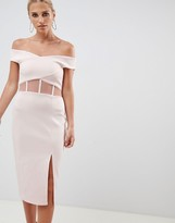 Asos Design DESIGN Scuba Corset Detail Bodycon Dress