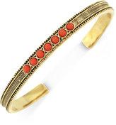 BCBGeneration Gold-Tone Textured Stone Cuff Bracelet