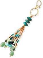 Nakamol Stone & Crystal Tassel Key Chain, Green