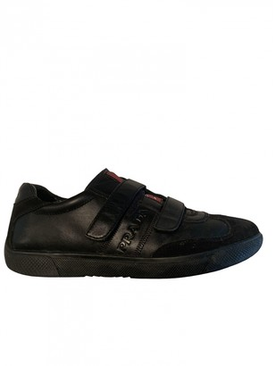 Prada Black Leather Trainers