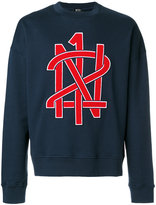 No.21 logo print sweatshirt - men - Cotton - S