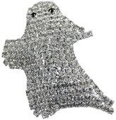 Zeckos Cool Rhinestone Encrusted Ghost Brooch Pin