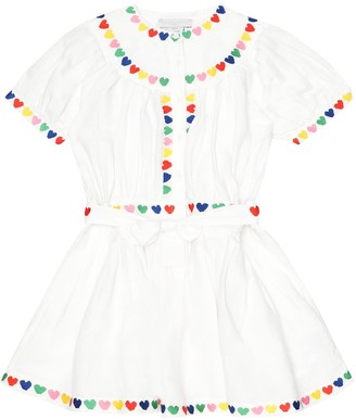 Stella McCartney Embroidered linen and cotton dress
