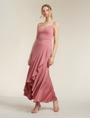 Forever New Hazel Wrap Frill Midi Dress - Queen Mauve - 16