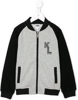 Karl Lagerfeld chest print bomber jacket