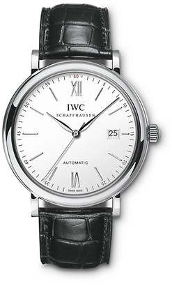 IWC Portofino Stainless Steel Alligator Strap Watch