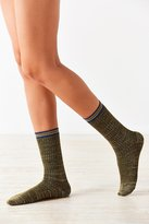 Out From Under Lurex Varsity Stripe Crew Sock