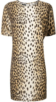 R 13 Cheetah-Print Shift Dress
