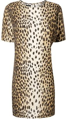 R 13 cheetah-print shift dress