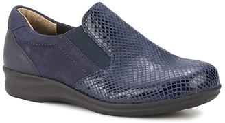 Walking Cradles Cormick (Black Patent Snake/Nubuck/Leather) Women's Shoes