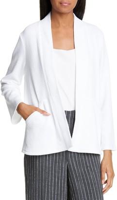 Eileen Fisher Organic Cotton Blend Open Front Jacket