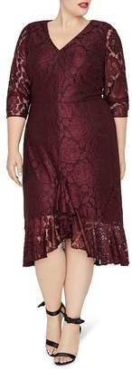 Rachel Roy Plus Parker Floral Lace Dress