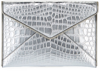 Rebecca Minkoff Leo Leather Clutch Bag - Silver Hardware